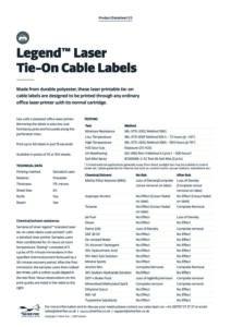 2019 Legend Tie on cable label – Laserv2