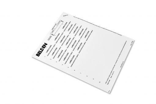 Belden Faceplate Outlet Labels LR