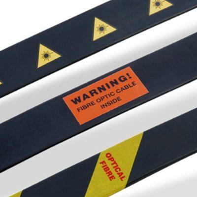 Optical Fibre Warning Labels & Tape